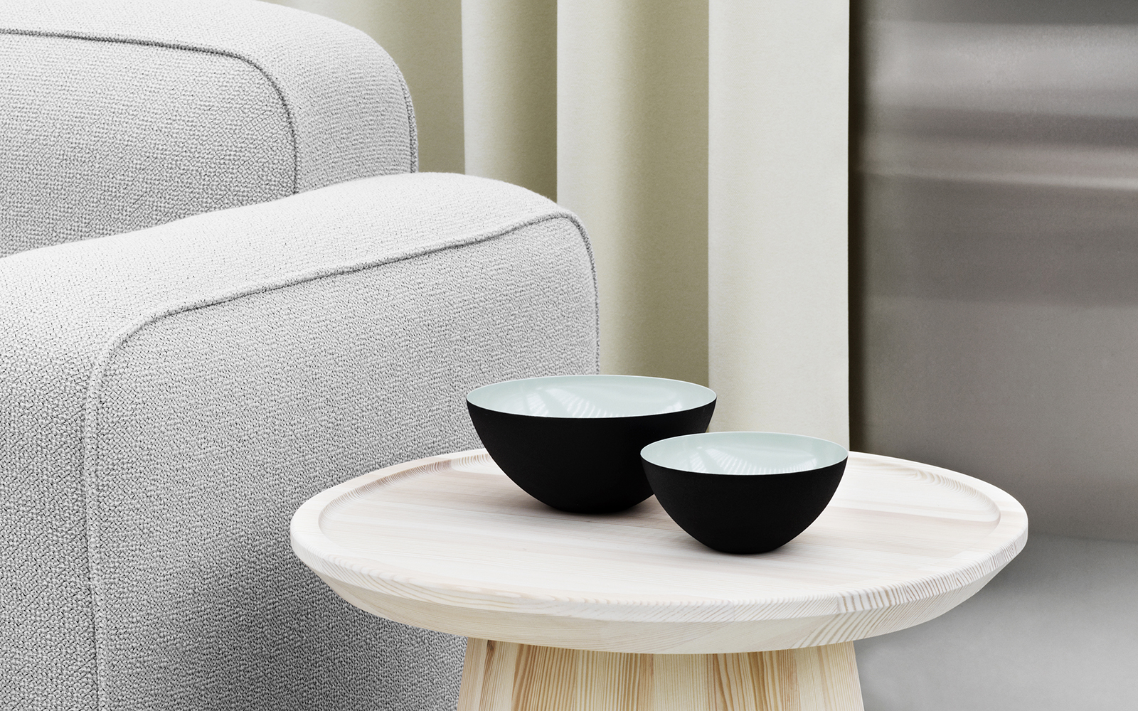 Krenit Bowls Dusty Green - Normann Copenhagen