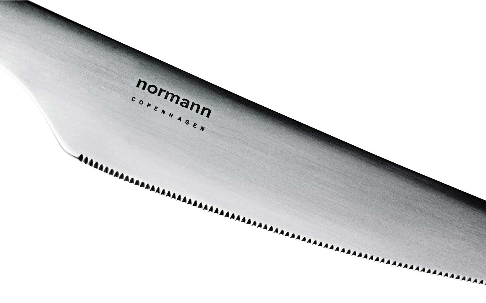 Normann Cutlery knife detail on white background