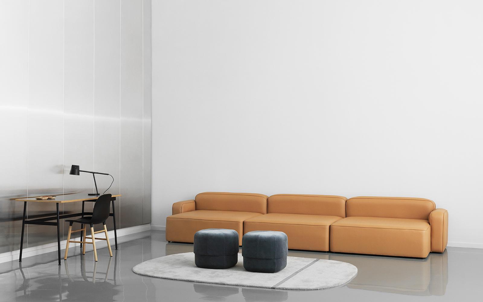 rope sofa m chaiselong venstre og puf fame. Black Bedroom Furniture Sets. Home Design Ideas