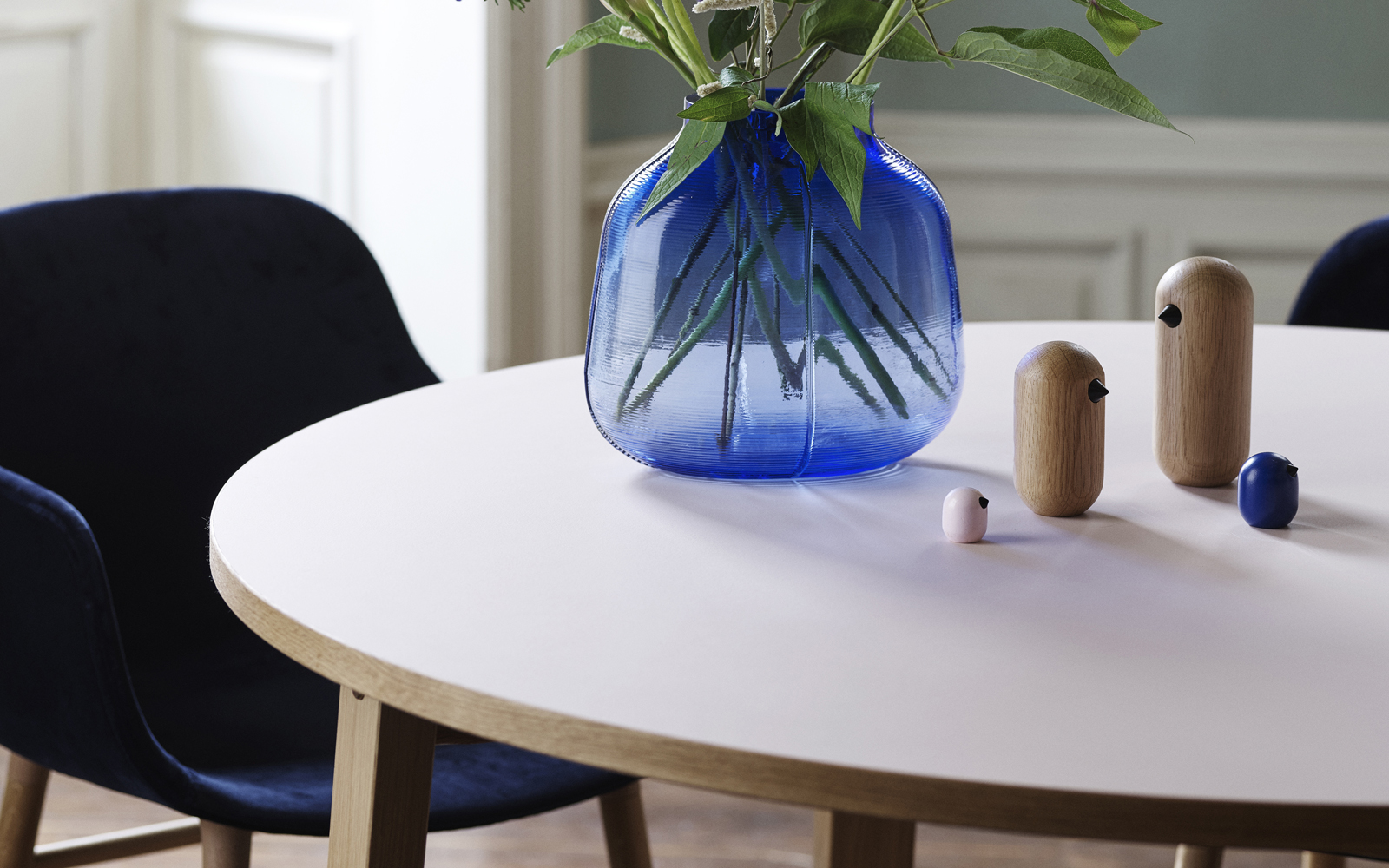 Step vase - Blue - Normann Copenhagen