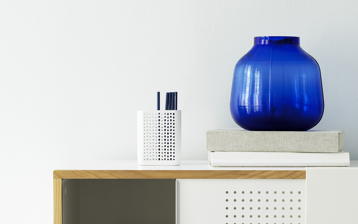 Step vase blue | Normann Copenhagen