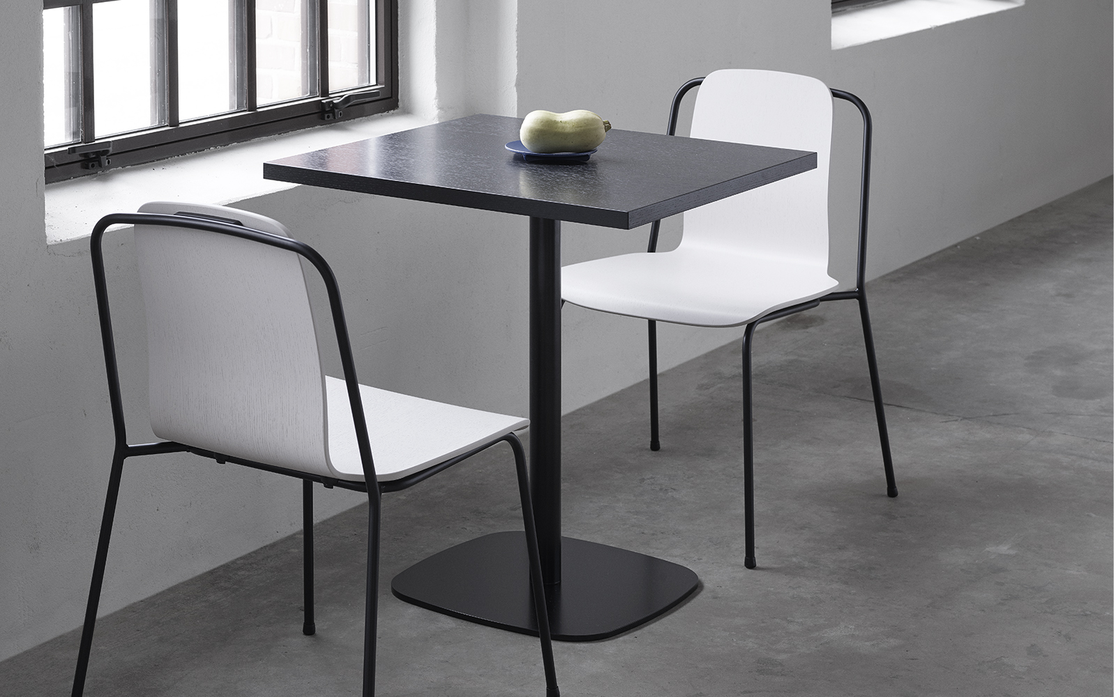 Studio Chair Black Steel Green