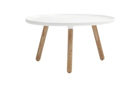 Tablo tables large white frontview on a white background