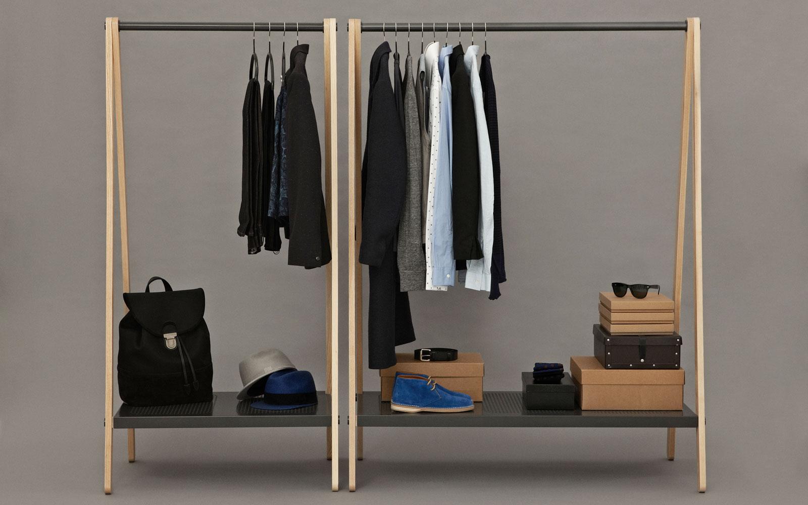 toj clothes rack stylish wardrobe furniture in grey steel and ash rh normann copenhagen com Closet Clothes Rack Clothing Shelves IKEA
