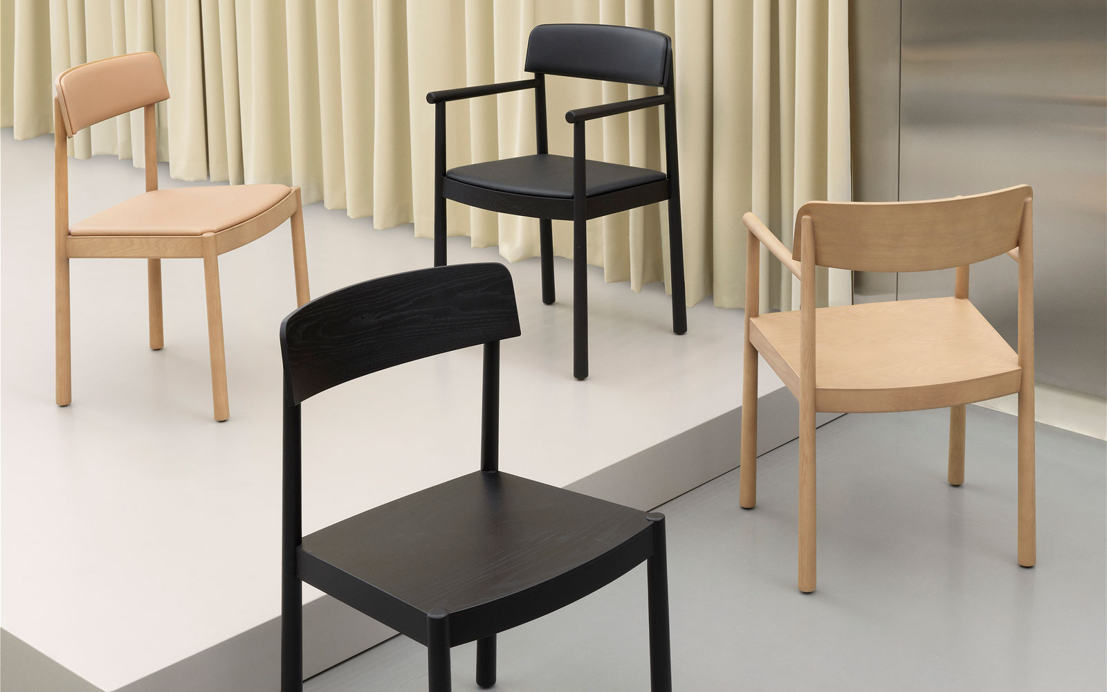 Timb Armchair Black and Tan - Normann Copenhagen