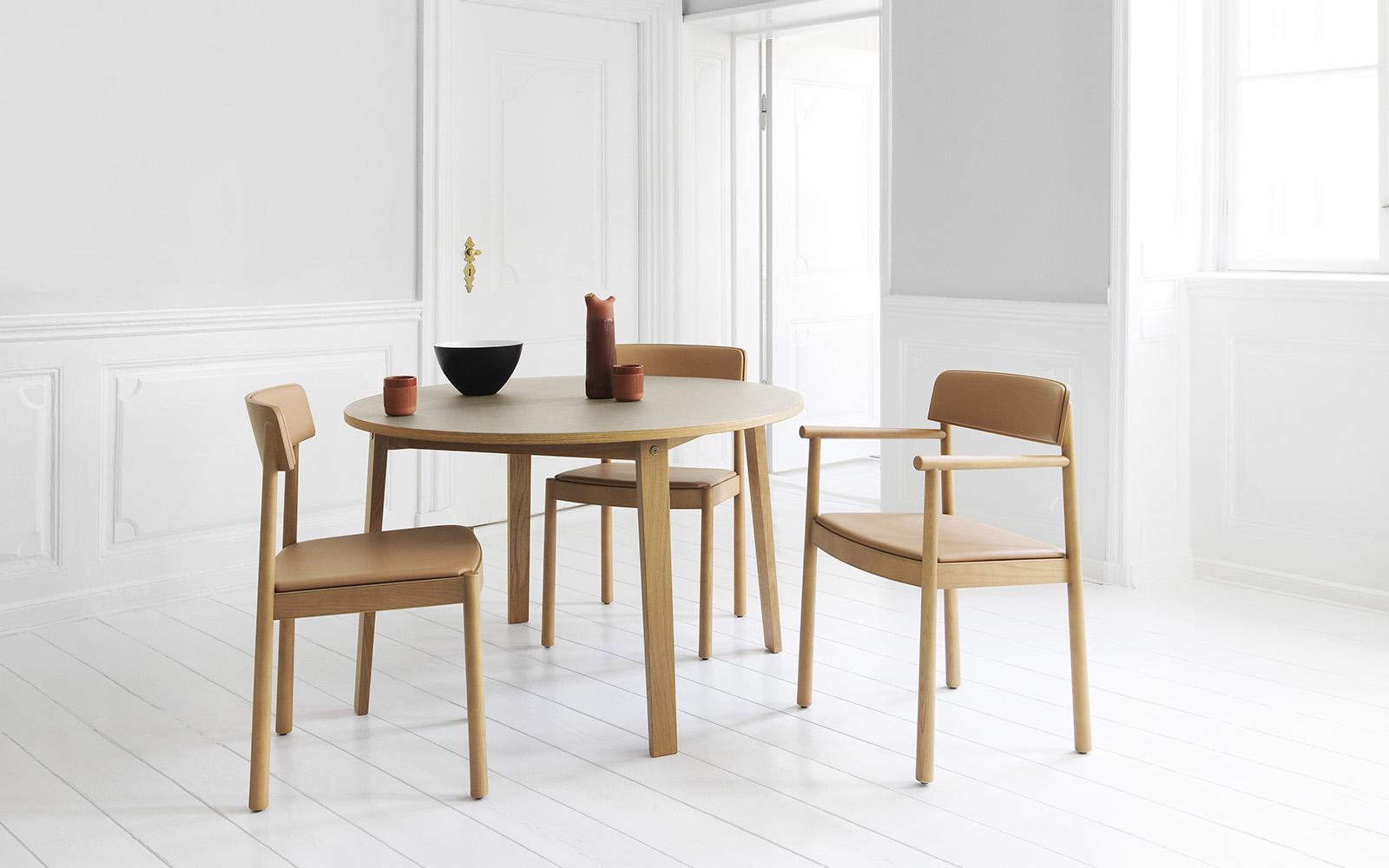 Timb Armchair Tan with Upholstery - Normann Copenhagen