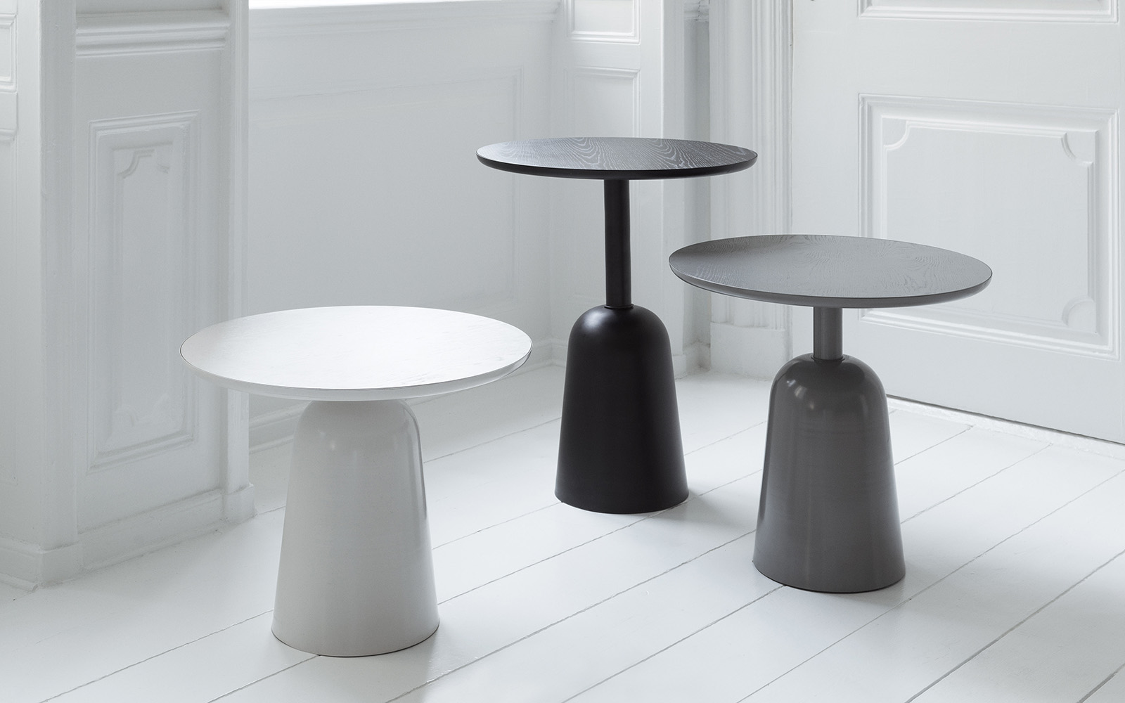 Turn Table Black, Grey, Warm grey - Normann Copenhagen