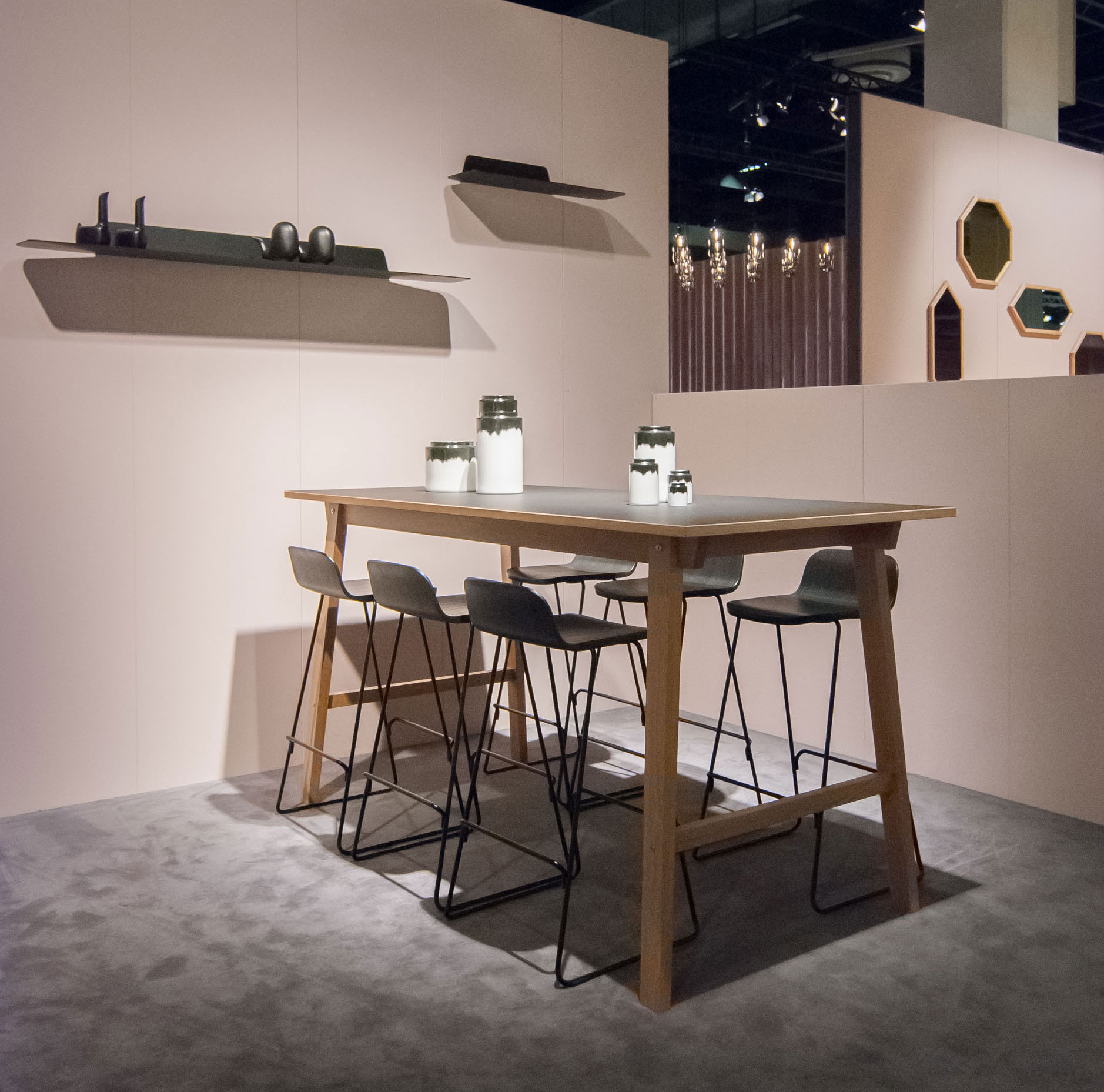 the bar caf restaurant friendly bar tables is available in either linoleum or veneer finish vol 2 size 90 x 200 cm h 103 cm