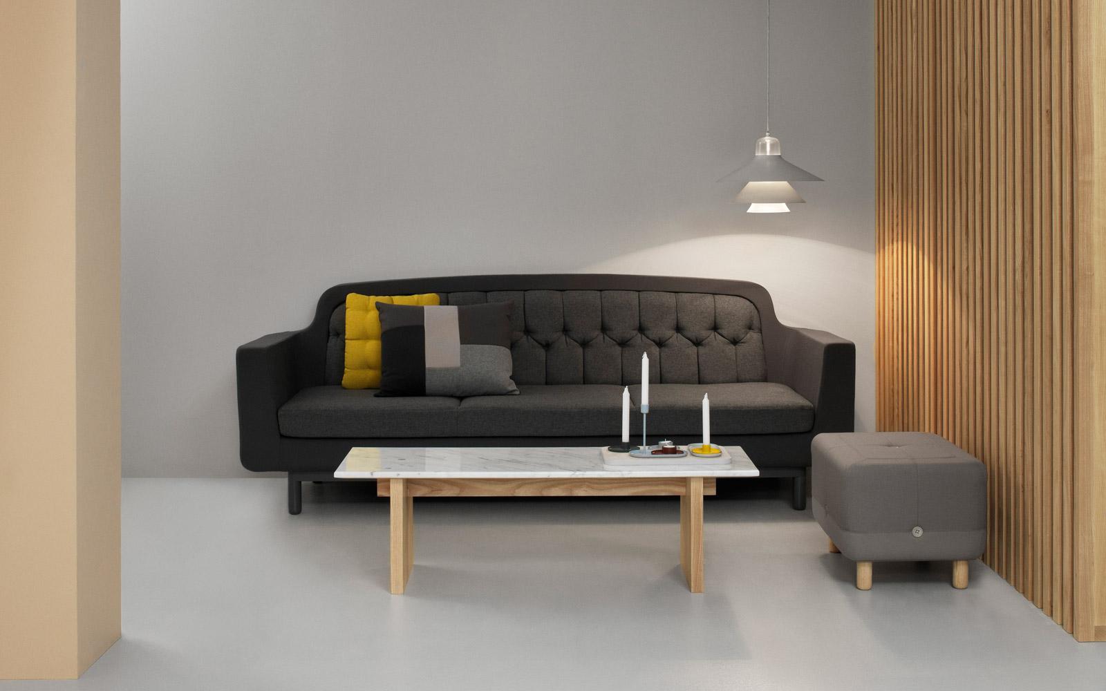 Brick Cushion Red Modern Geometrical Patchwork Design