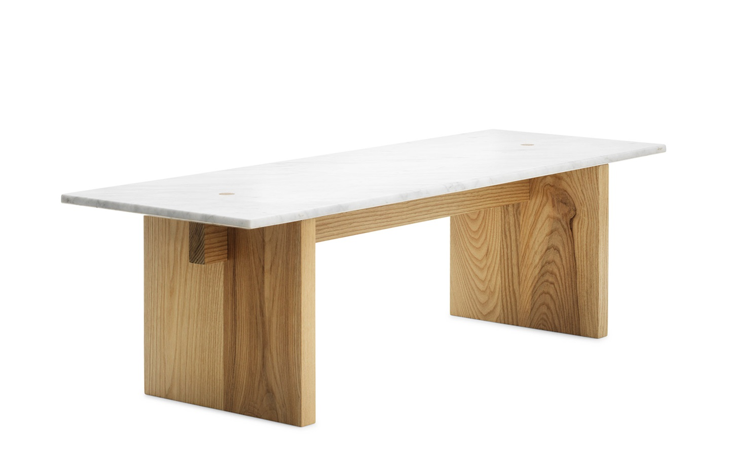 Solid coffee table minimalistic design in marble and ash for Marmortisch modern