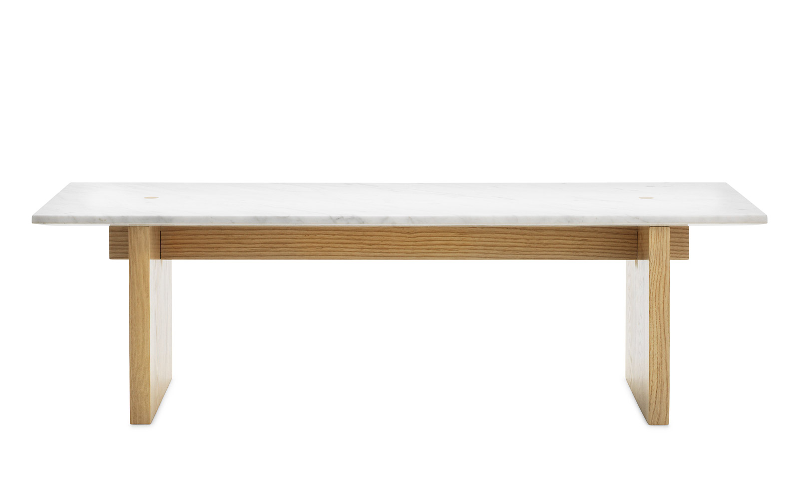 Solid coffee table minimalistic design in marble and ash for Table shopping