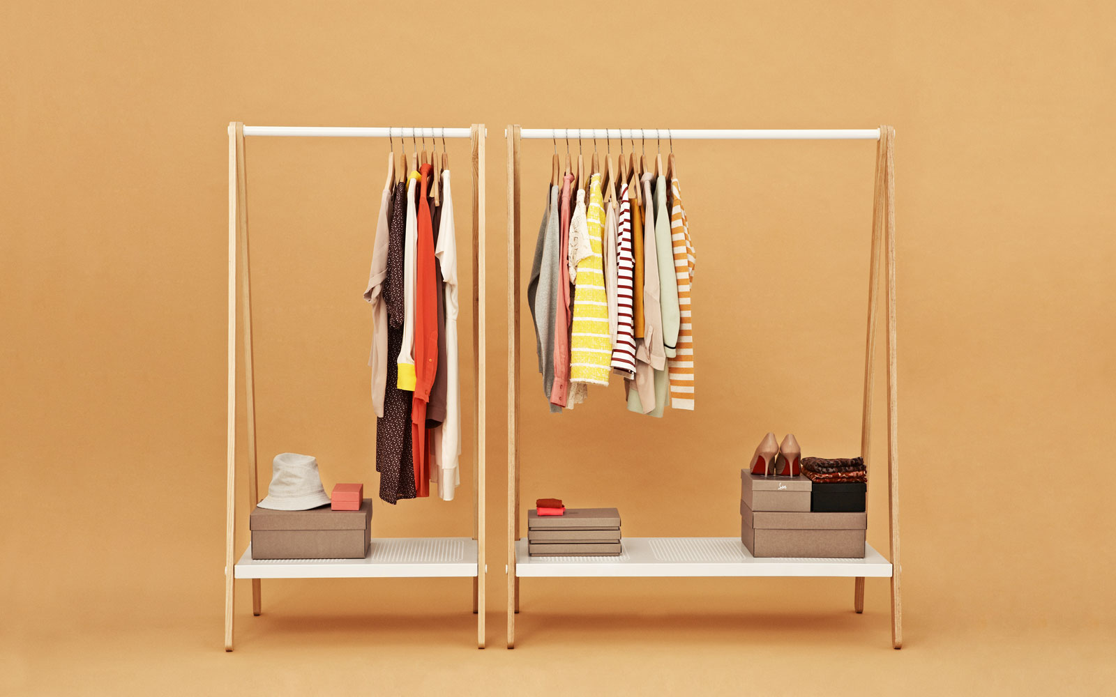 toj clothes rack stylish wardrobe furniture in grey. Black Bedroom Furniture Sets. Home Design Ideas