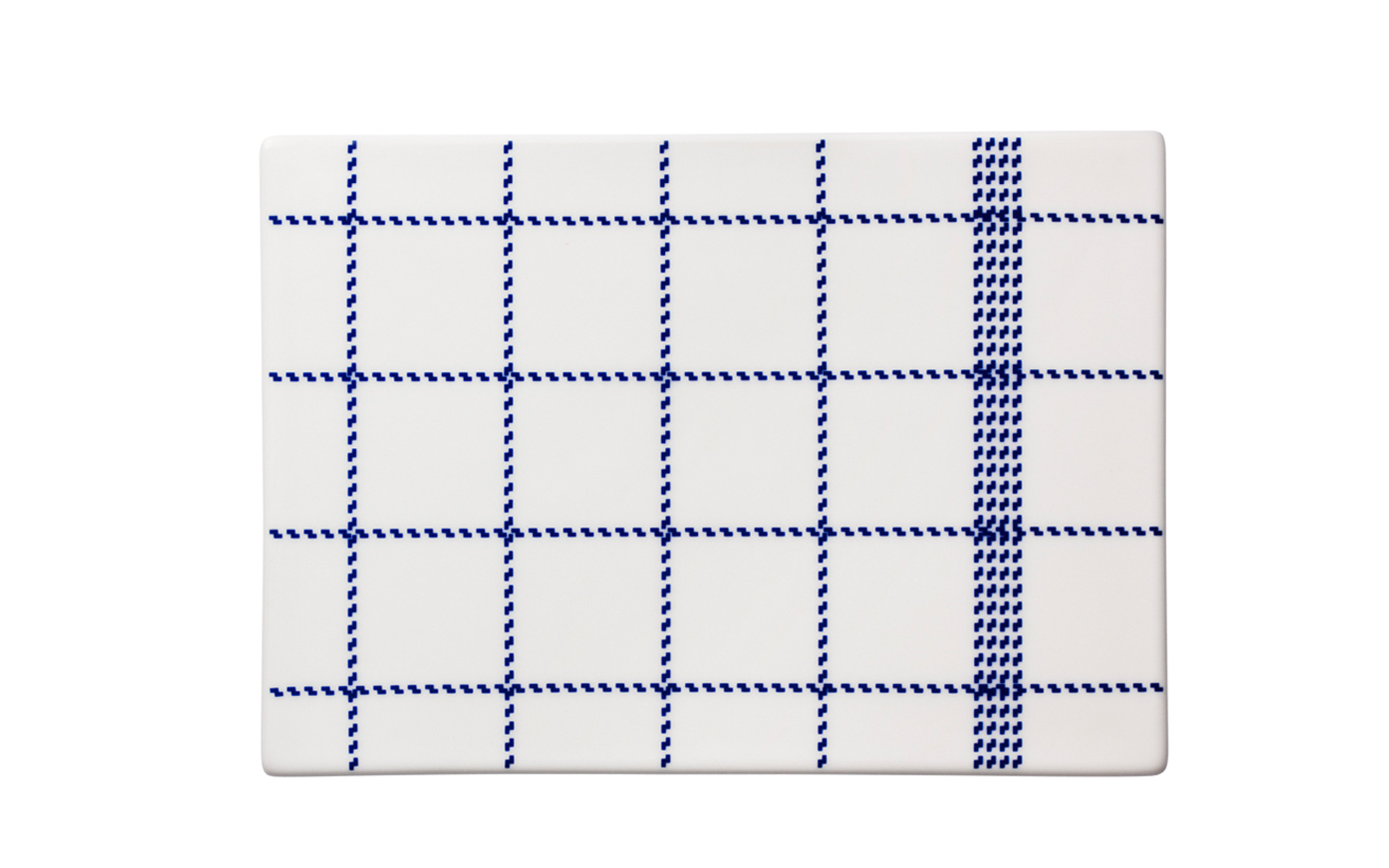 Mormor blue square buttering board large topview