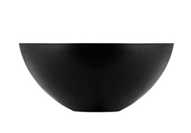 Krenit bowl black sideview look straight at the center
