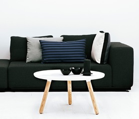 Typical nordic nicholai and normann tablo table and sofa