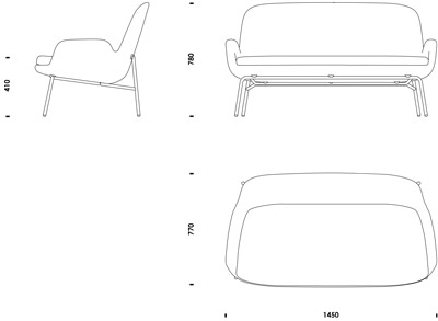 couch drawing side view. era sofa | normann copenhagen couch drawing side view e