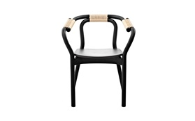 Knot chair Black nature