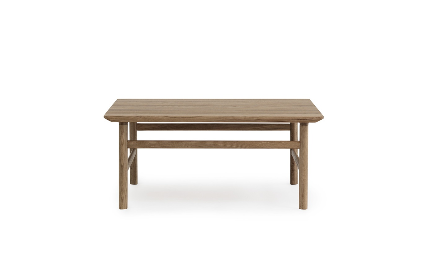 Grow in solid oak a coffee table in classic danish design for Coffee table 80 x 80