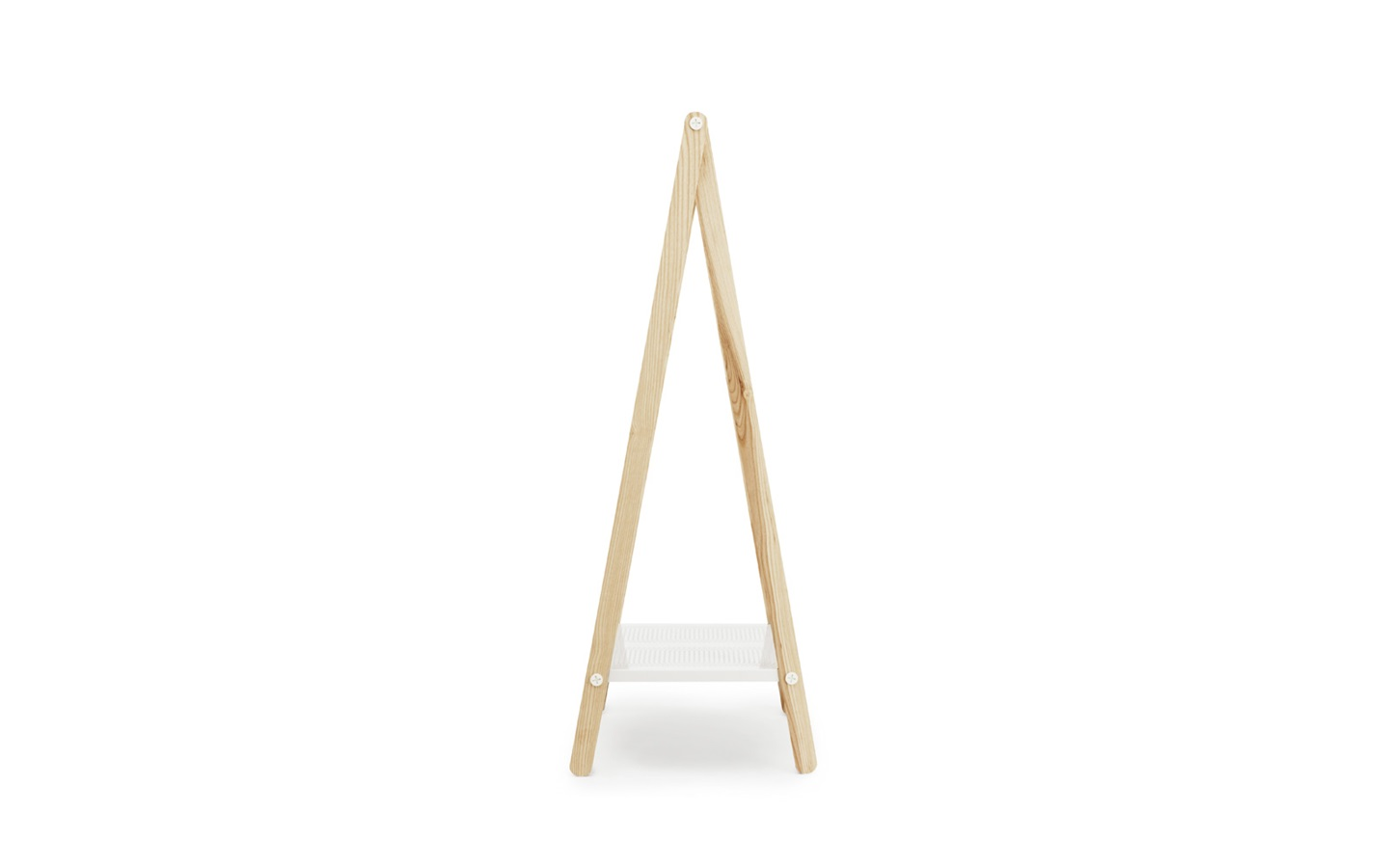 Toj clothes rack stylish wardrobe furniture in white steel and ash