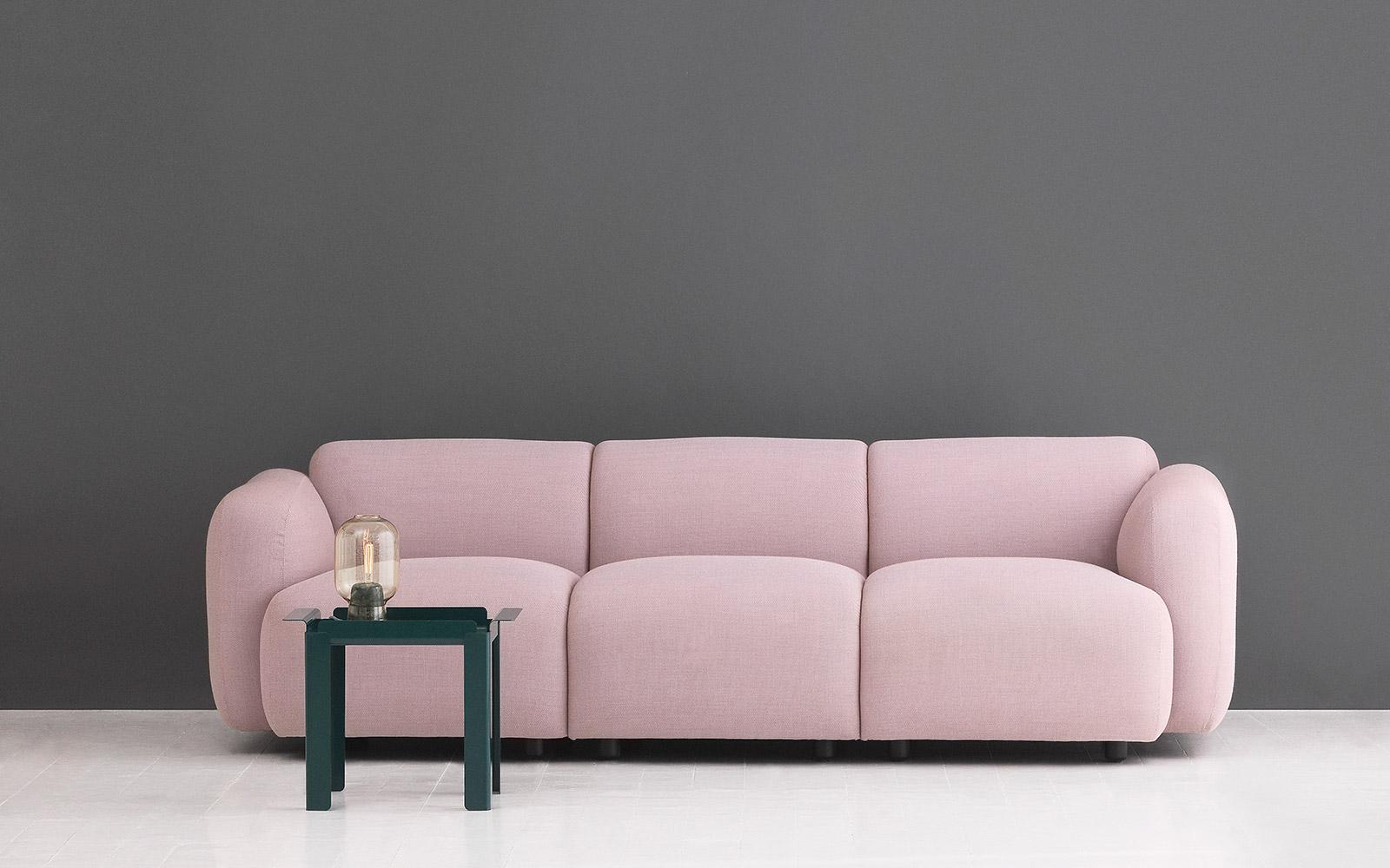 Curvy Scandinavian Design With An Edge Swell Sofa 3 Seater