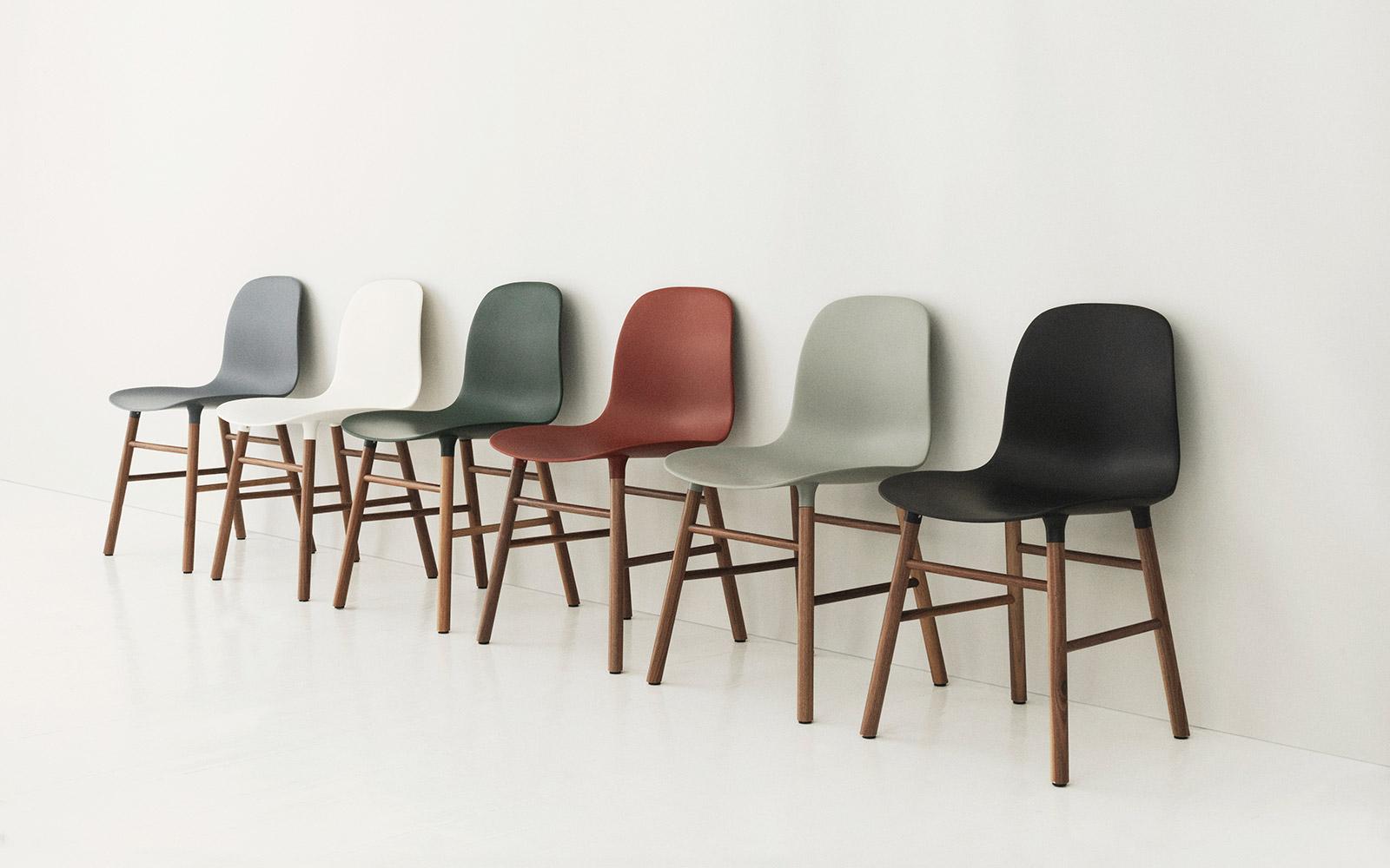 form chair grey oak. Black Bedroom Furniture Sets. Home Design Ideas
