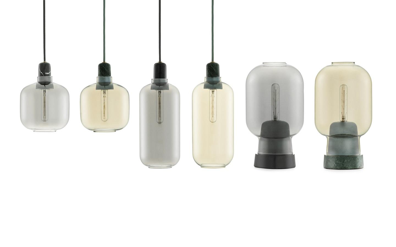 amp lamp small smoke black. Black Bedroom Furniture Sets. Home Design Ideas