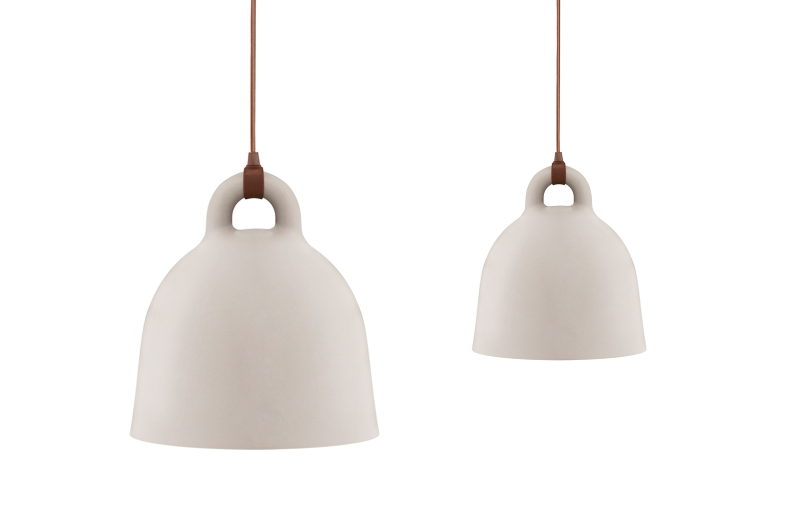 Bell Lamp small | A robust and minimalistic ceiling lamp in matte sand