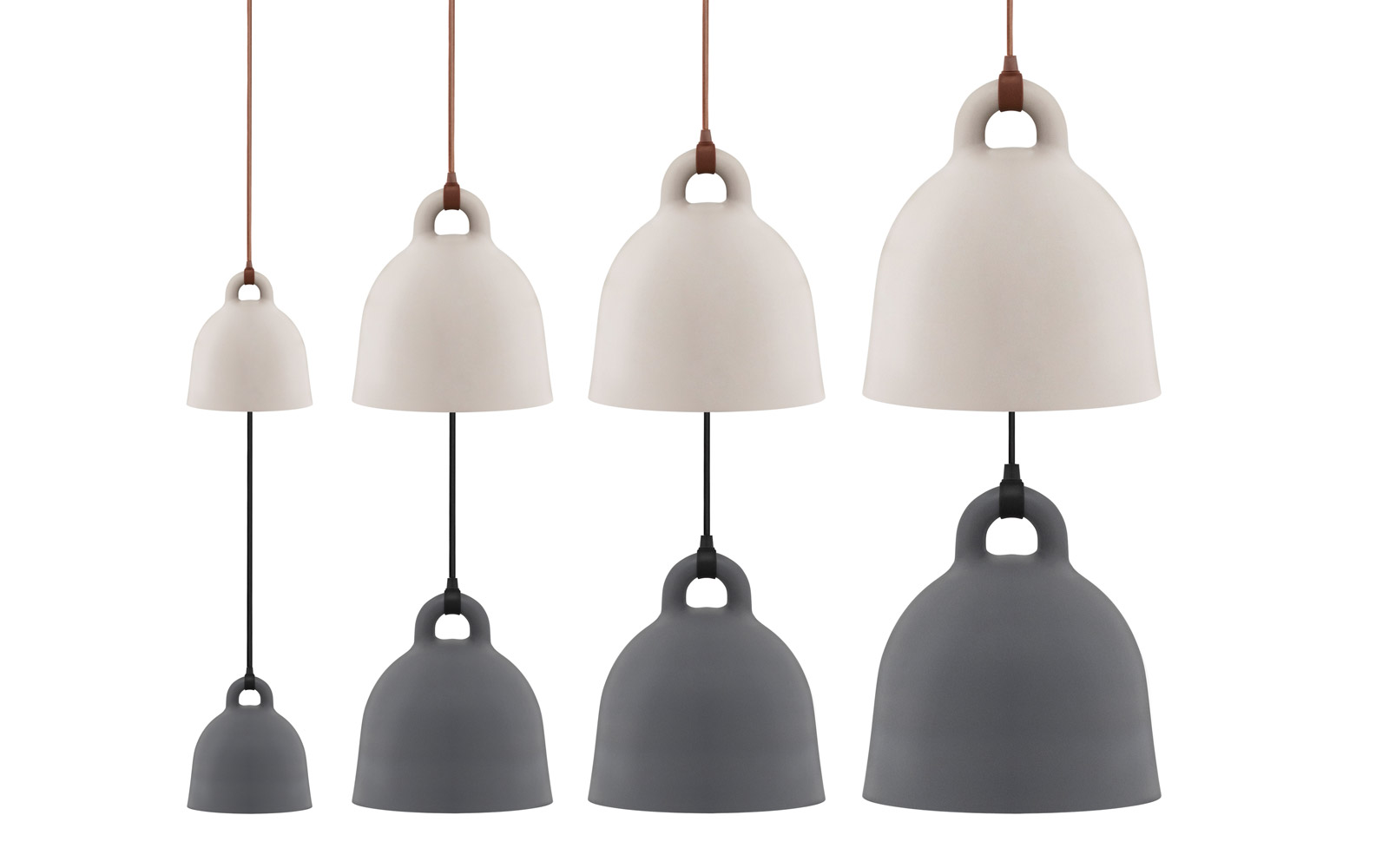 bell lamp large a robust and minimalistic ceiling lamp in matte grey. Black Bedroom Furniture Sets. Home Design Ideas