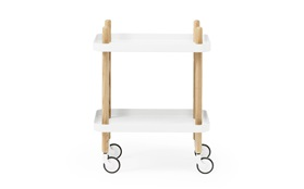 Block side table dark blue – a versatile furniture pieceBlock Table - Normann Copenhagen - Simon Legald - White