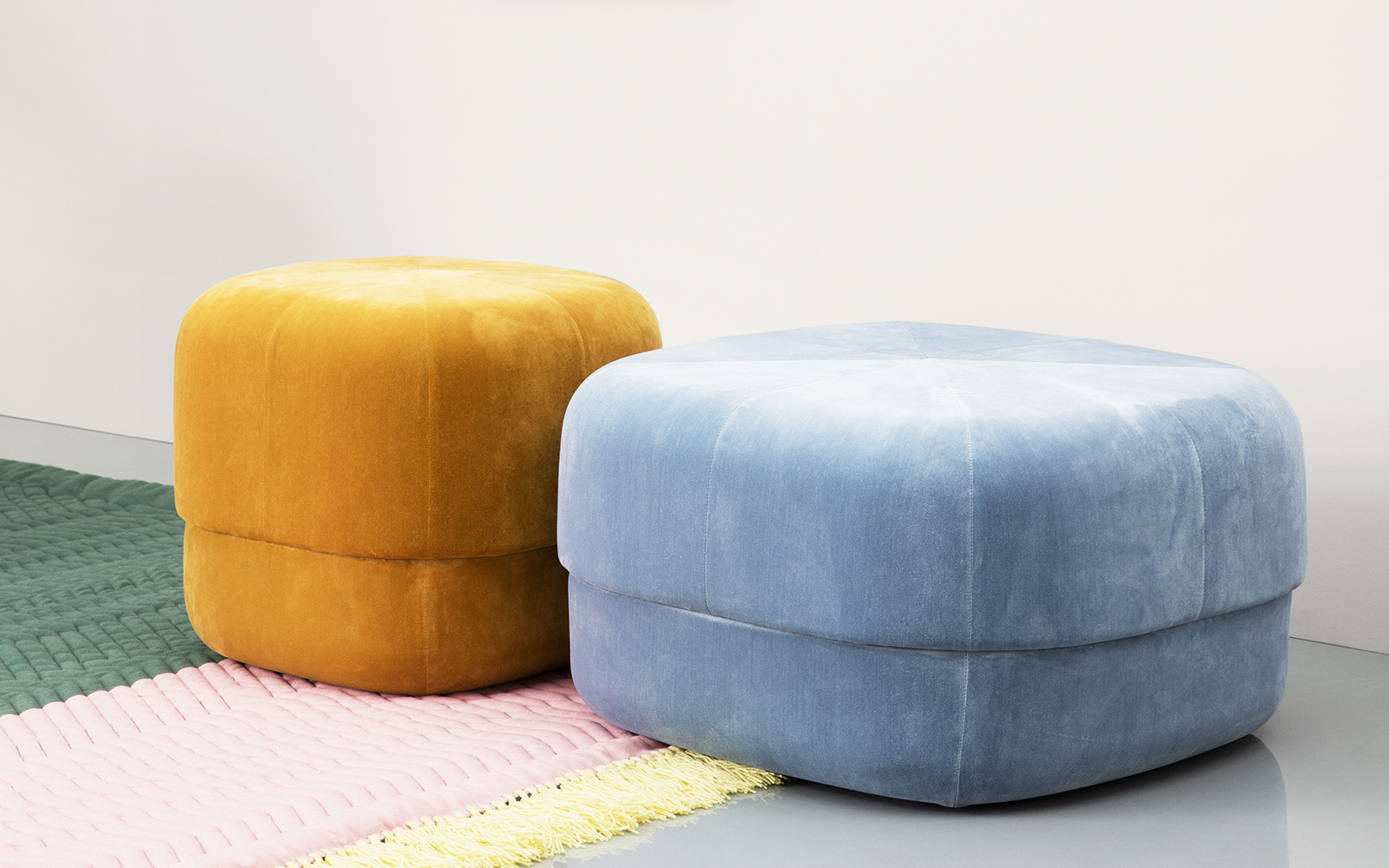circus pouf large in blush velour nordic moroccan pouf. Black Bedroom Furniture Sets. Home Design Ideas