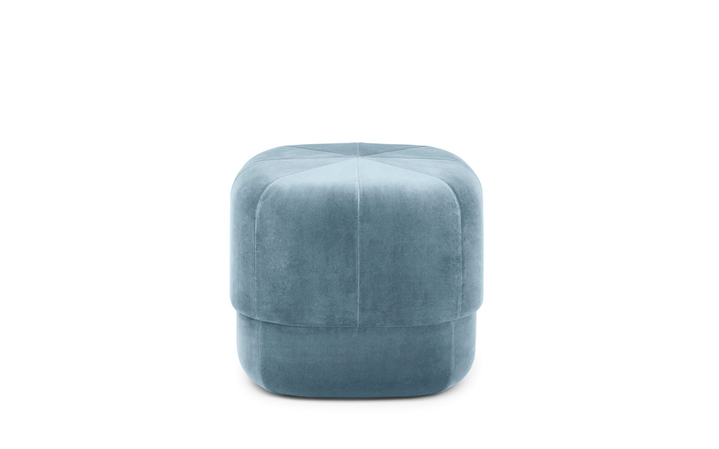circus pouf small in light blue velour u2013 nordic moroccan pouf