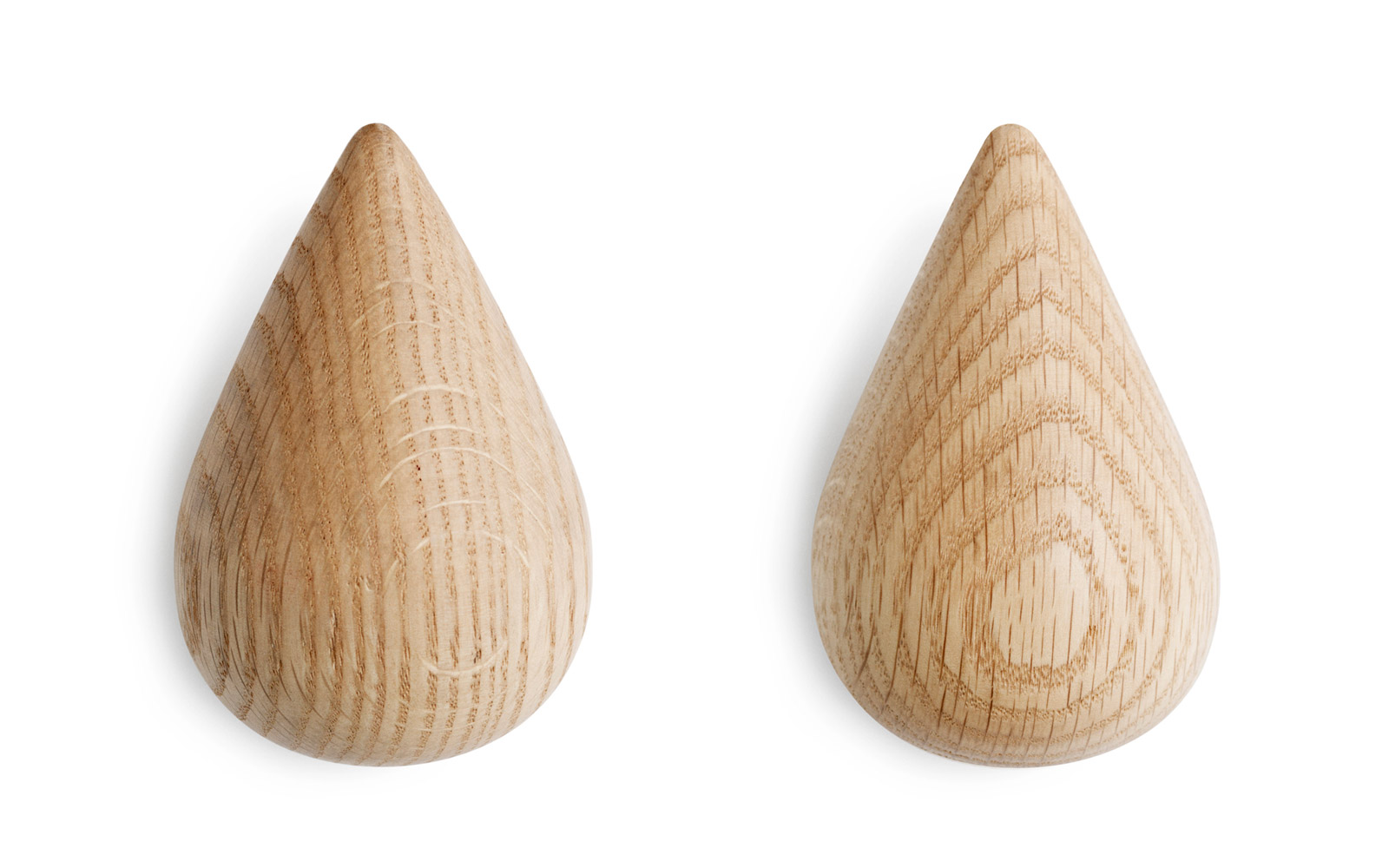 Dropit Hooks Small Wooden Dropshaped Hooks In Nature - Small wall hook