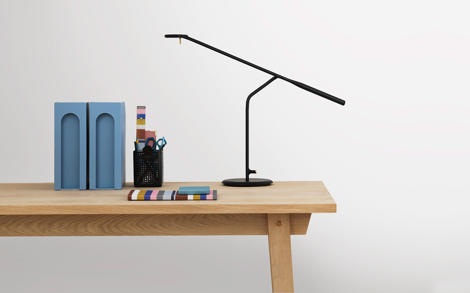 Flow table lamp a simple and flexible modular lamp where the sculptural design provides optimum flexibility in lighting even large desks flow is available in black and white as well as dark green geotapseo Image collections
