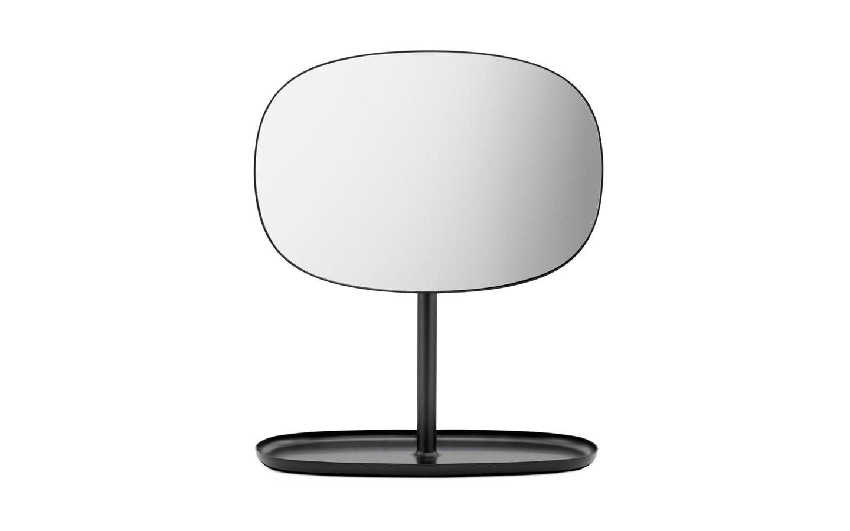 table mirror. flip mirror black table