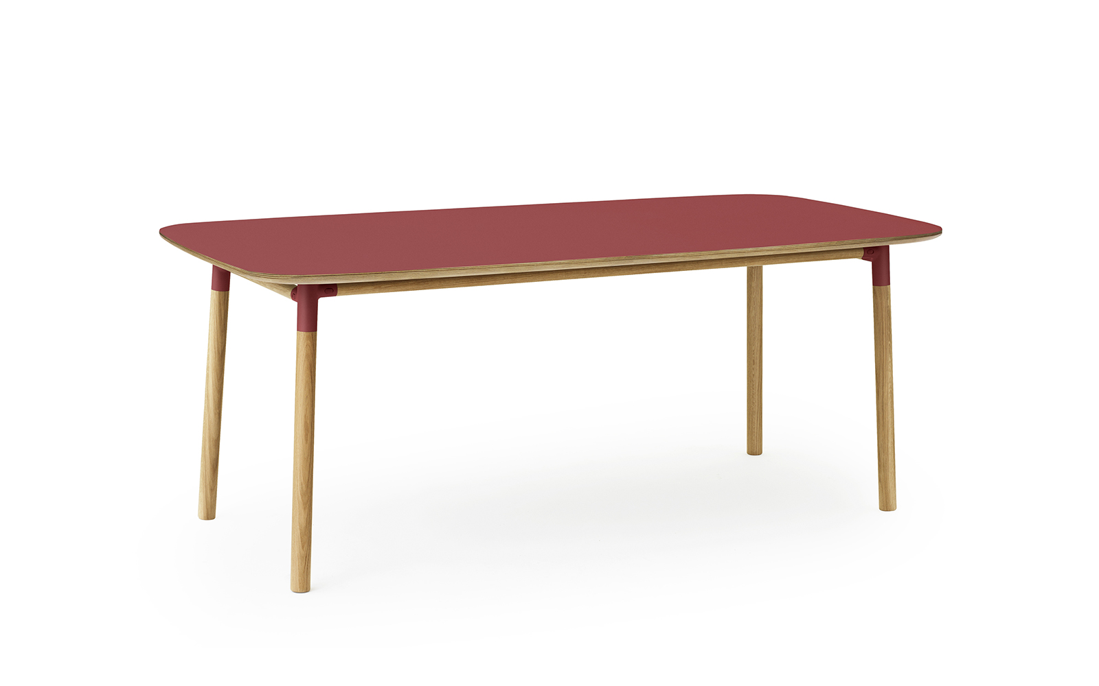 Form Table 95x200 Cm Red