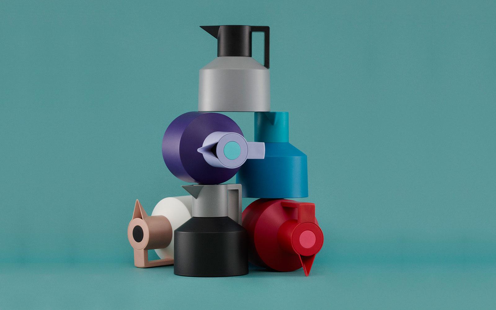 Geo Vacuum Jug A Retro Inspired Theomos In Grey Nuances