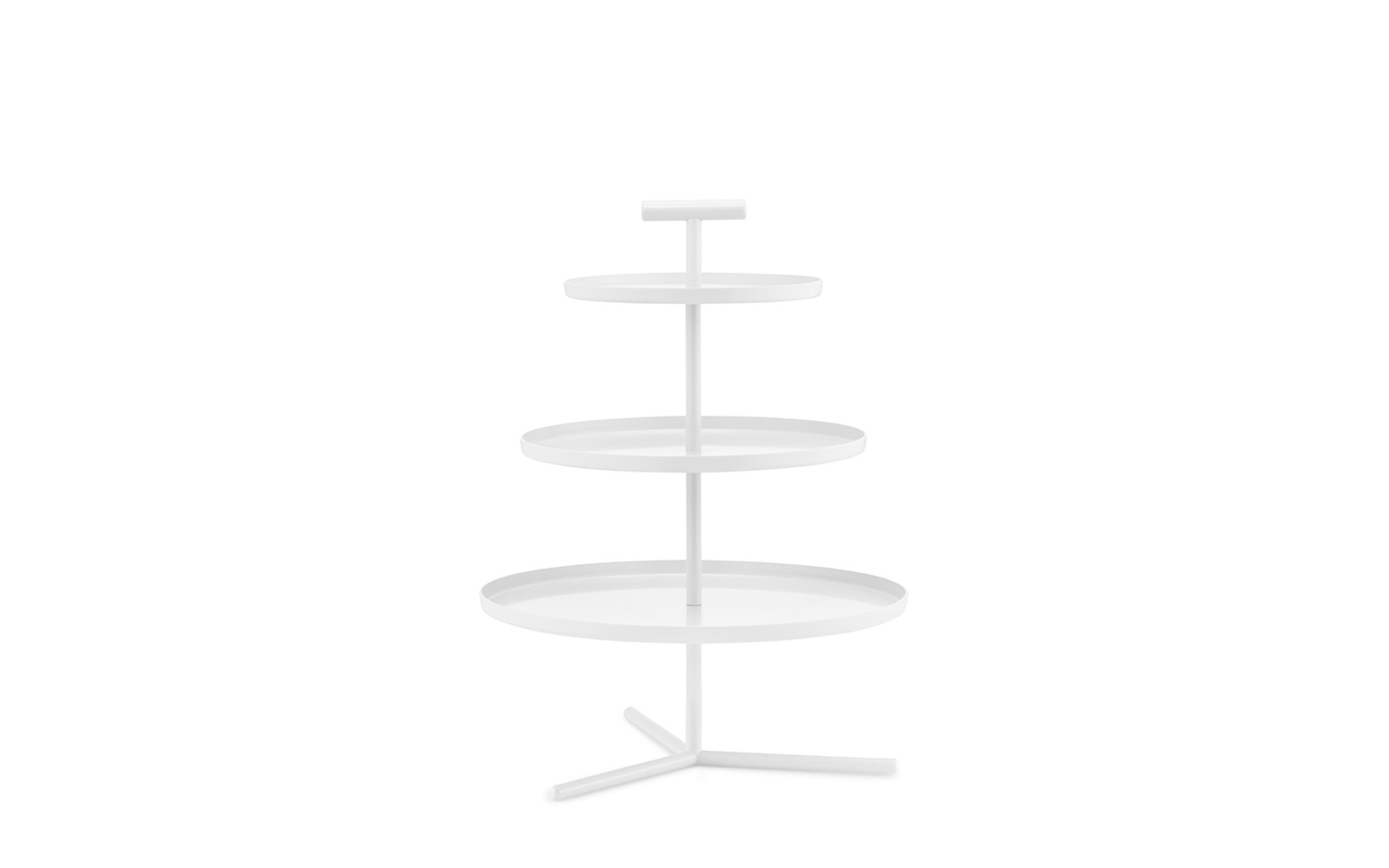 Glaze 3 Tier Cake Stand Cream