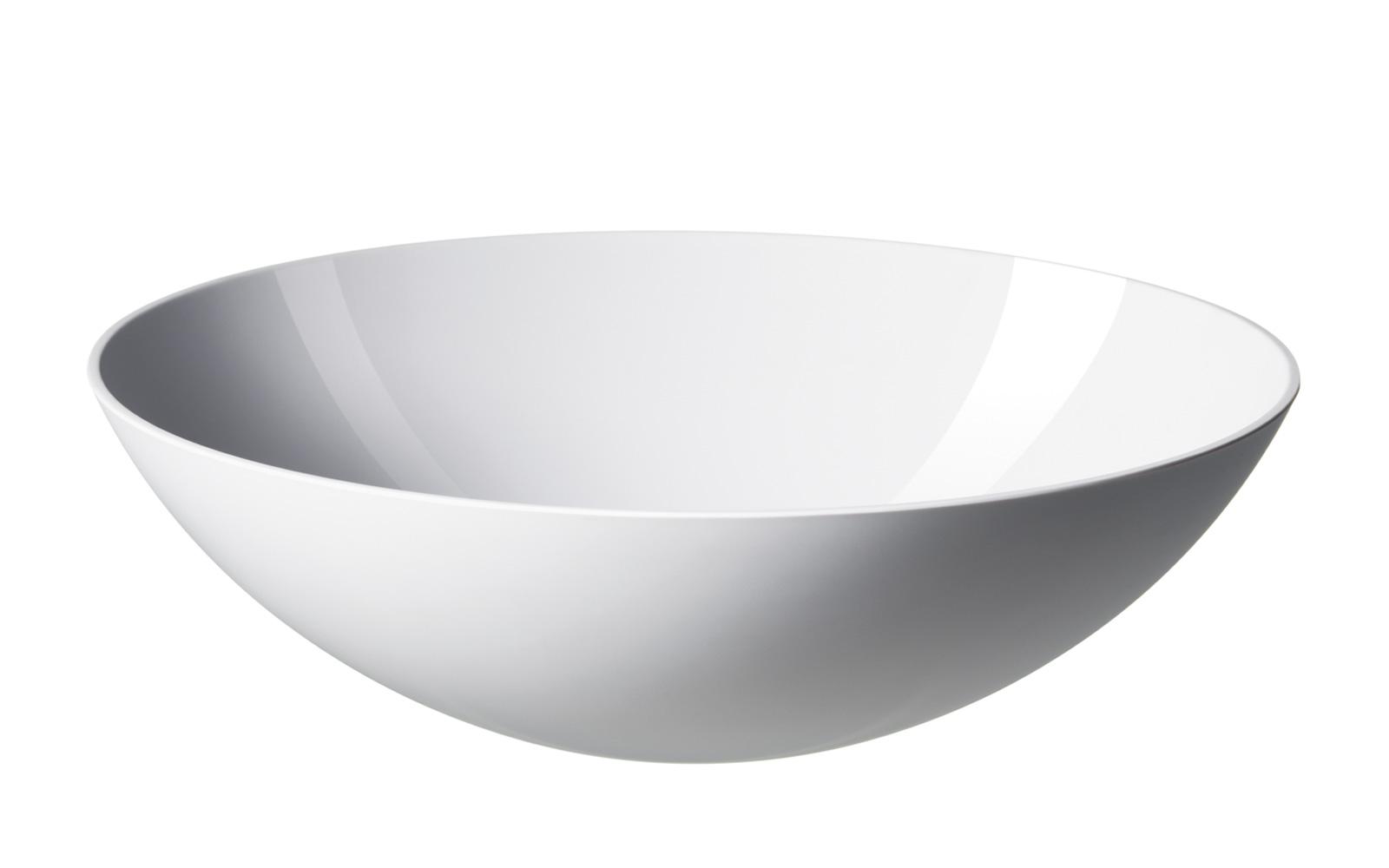 White Krenit Bowl 216 28 Cm A Modern Classic By Normann
