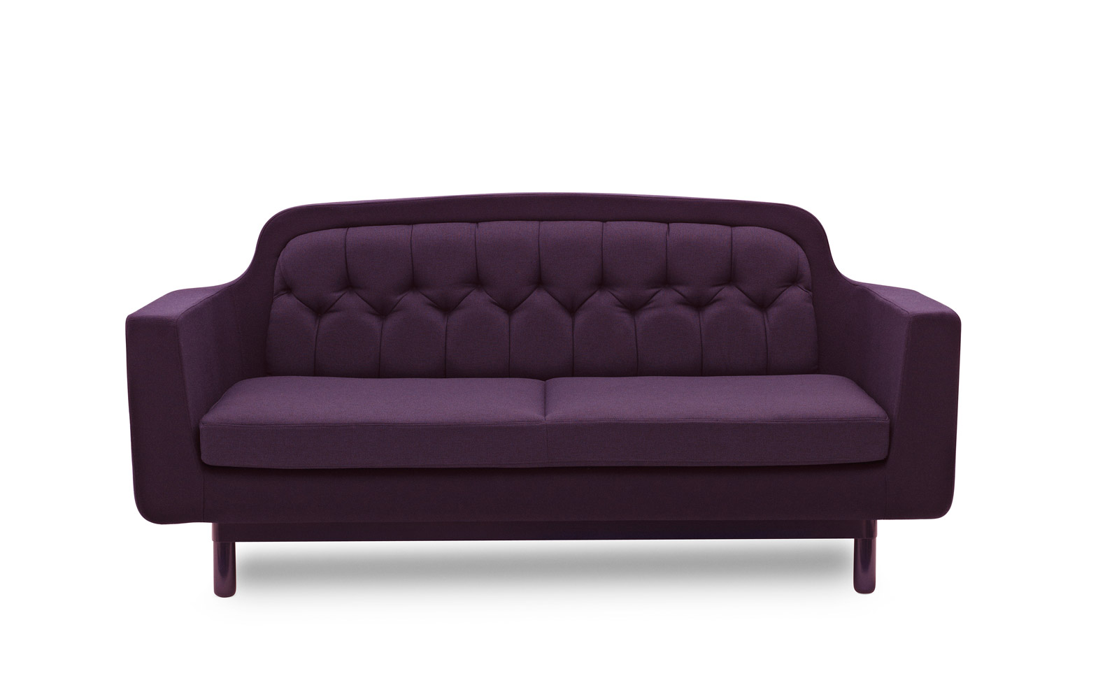 Onkel sofa recognizable scandinavian design fabrics for Purple sofa