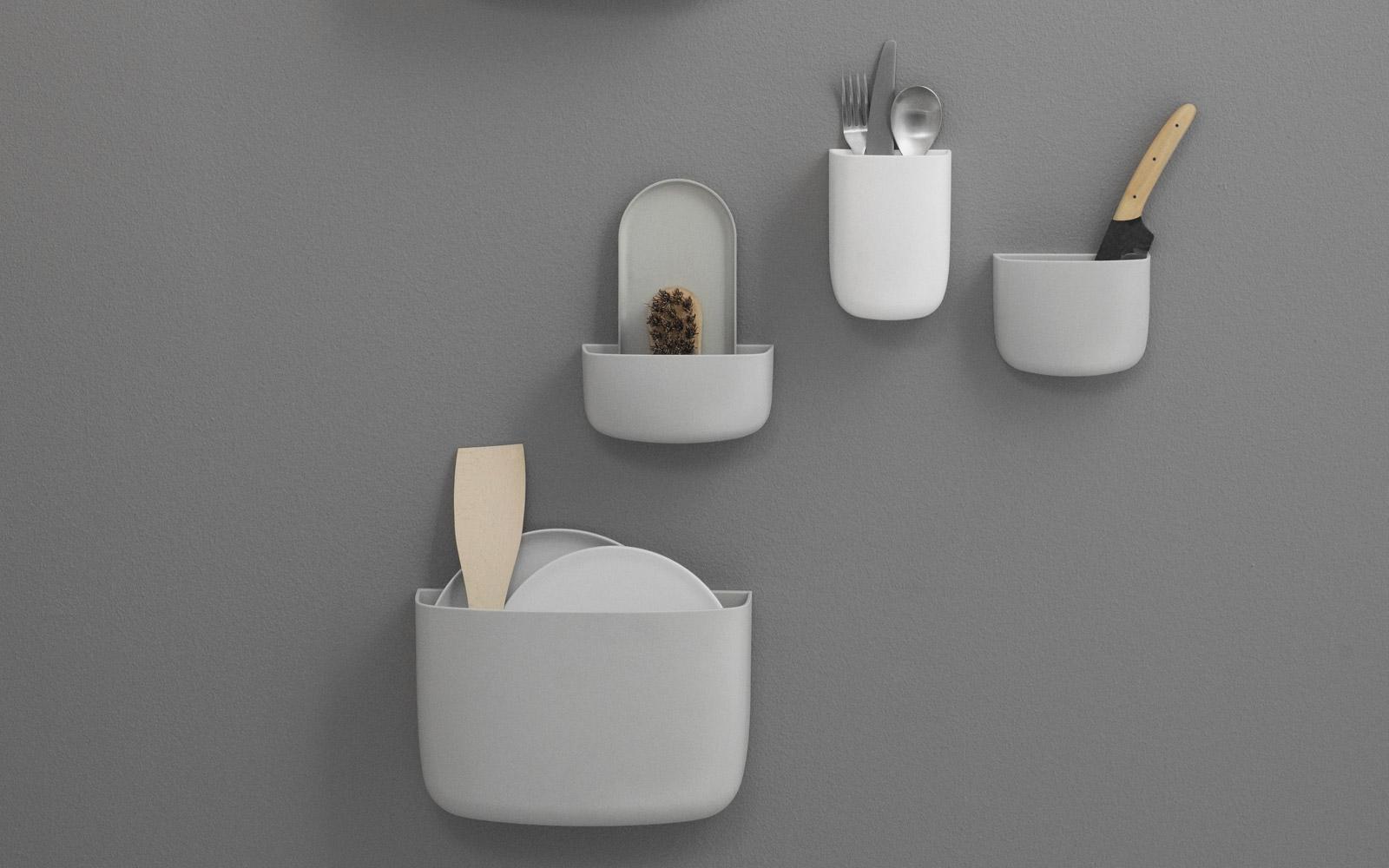 Pocket organizer flexible wall mounted storage solution
