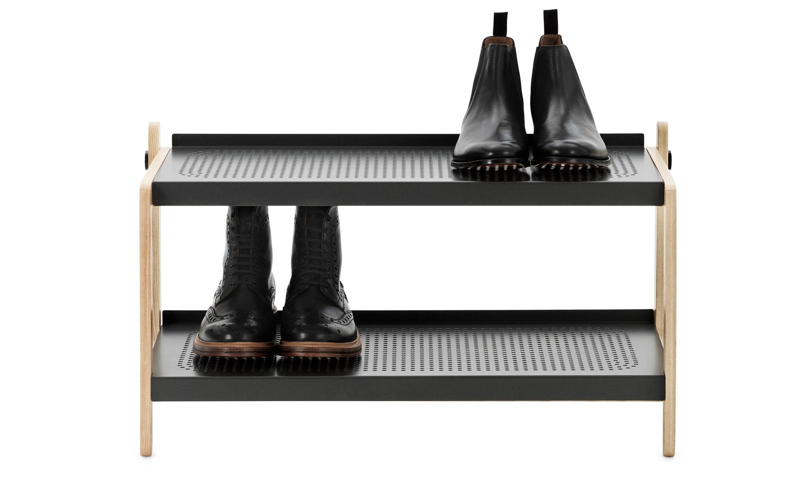 Sko Shoe Rack in white | Industrial design shoe storage