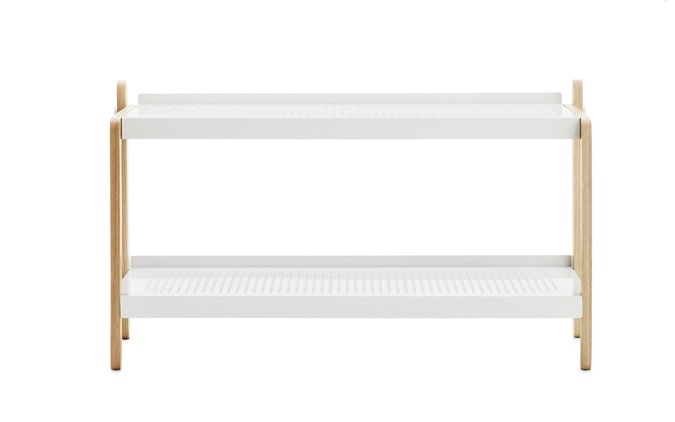 Sko Shoe Rack in white - Industrial style hallway storage