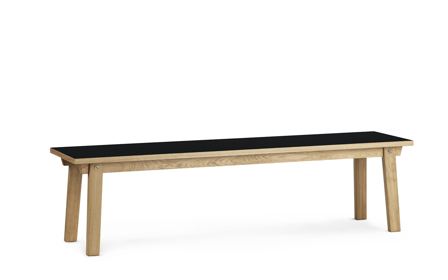 slice bench linoleum x cm black - undefined