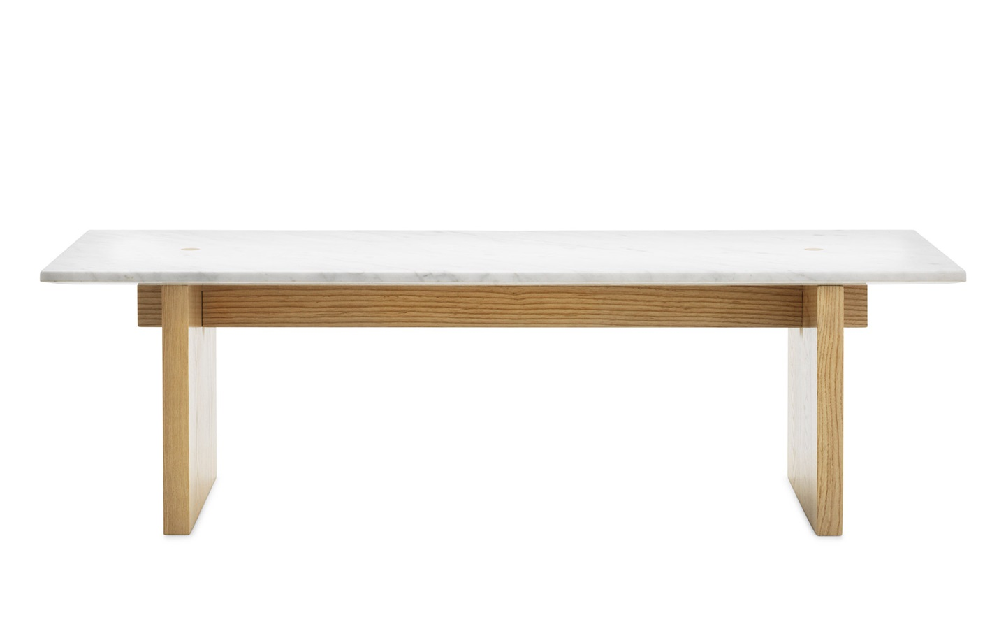 solid coffee table minimalistic design in marble and ash. Black Bedroom Furniture Sets. Home Design Ideas