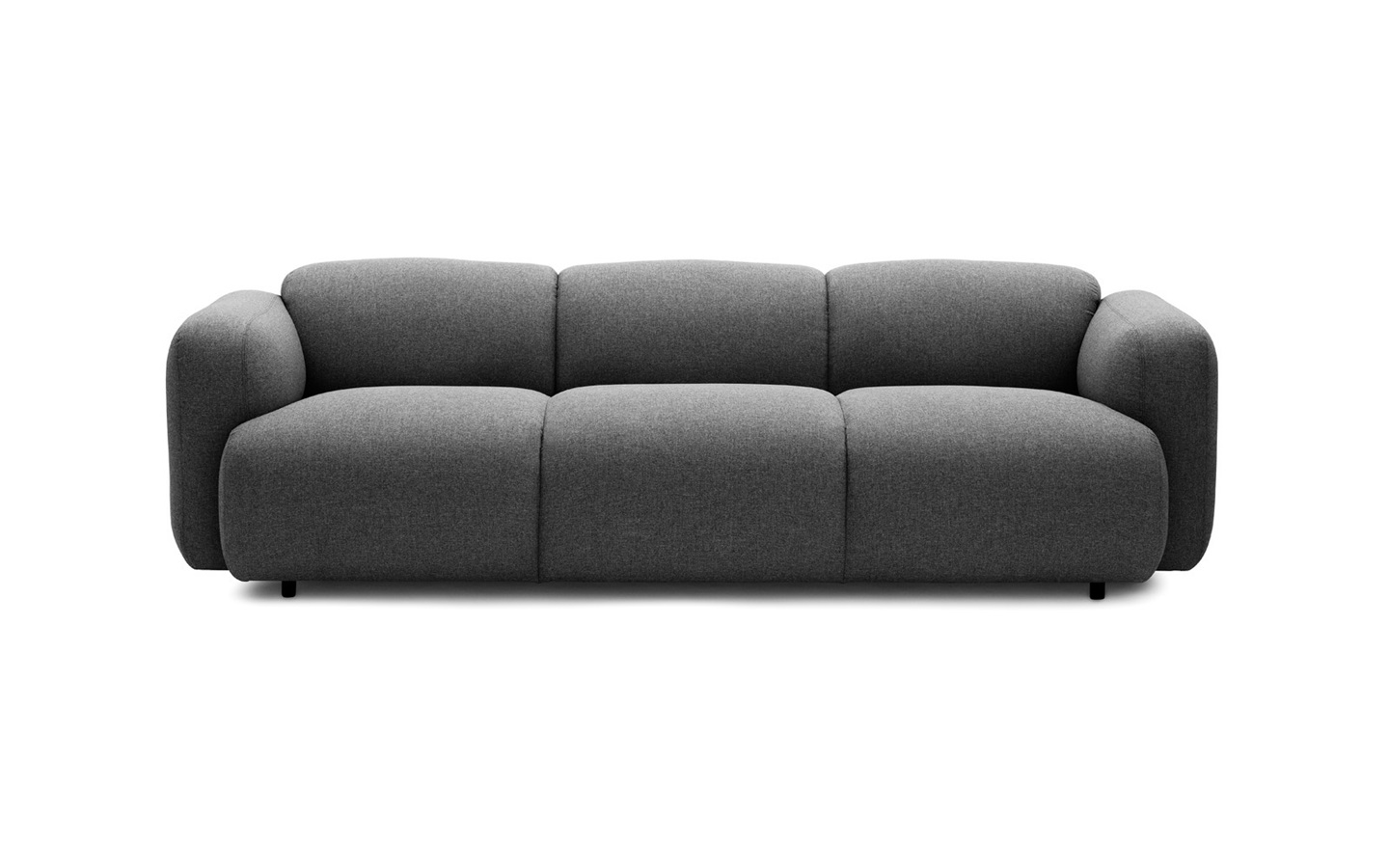 Curvy Scandinavian Design With An Edge | Swell Sofa 3 Seater