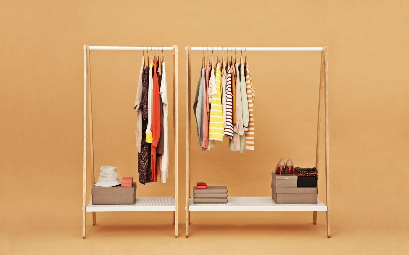 Toj Clothes Rack Stylish Wardrobe Furniture In Grey