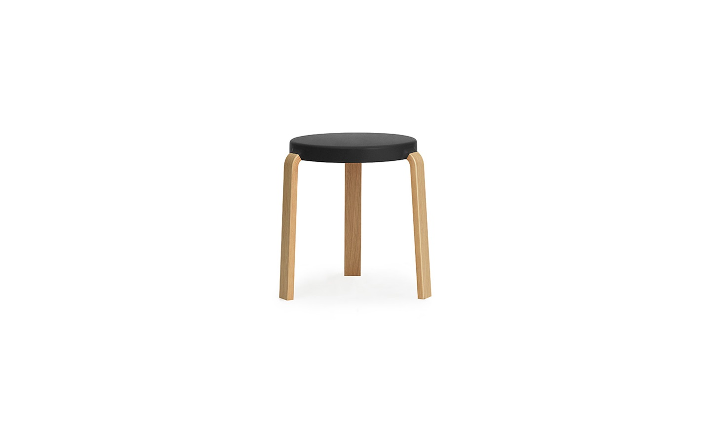 Tap Stool In Oak Black Innovative Three Legged Stool