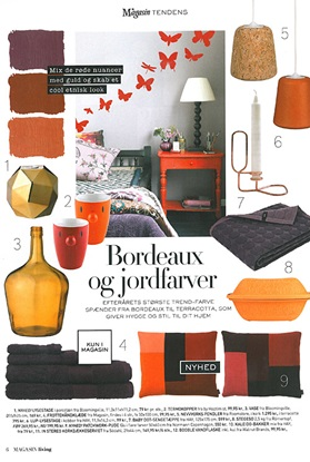 Magasin Living September 2012 Brick pillow earth colors red orange