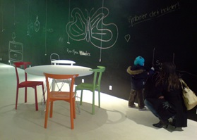 Flagship store Express yourself wall art blackboard paint