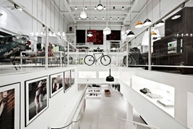 Flagship Store Bike hanging Normann Copenhagen